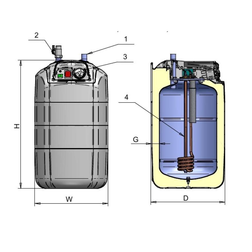 warmwasserspeicher elektro boiler kleinspeicher druckfest. Black Bedroom Furniture Sets. Home Design Ideas