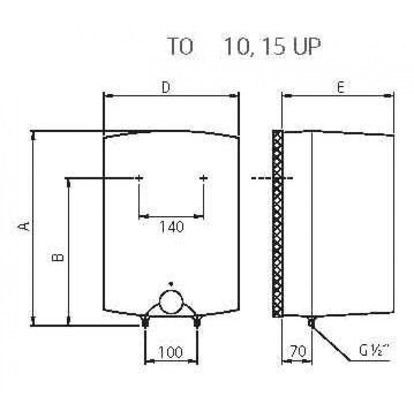 10 L 15 L Liter elektrischer Warmwasserspeicher Boiler druckfest ...