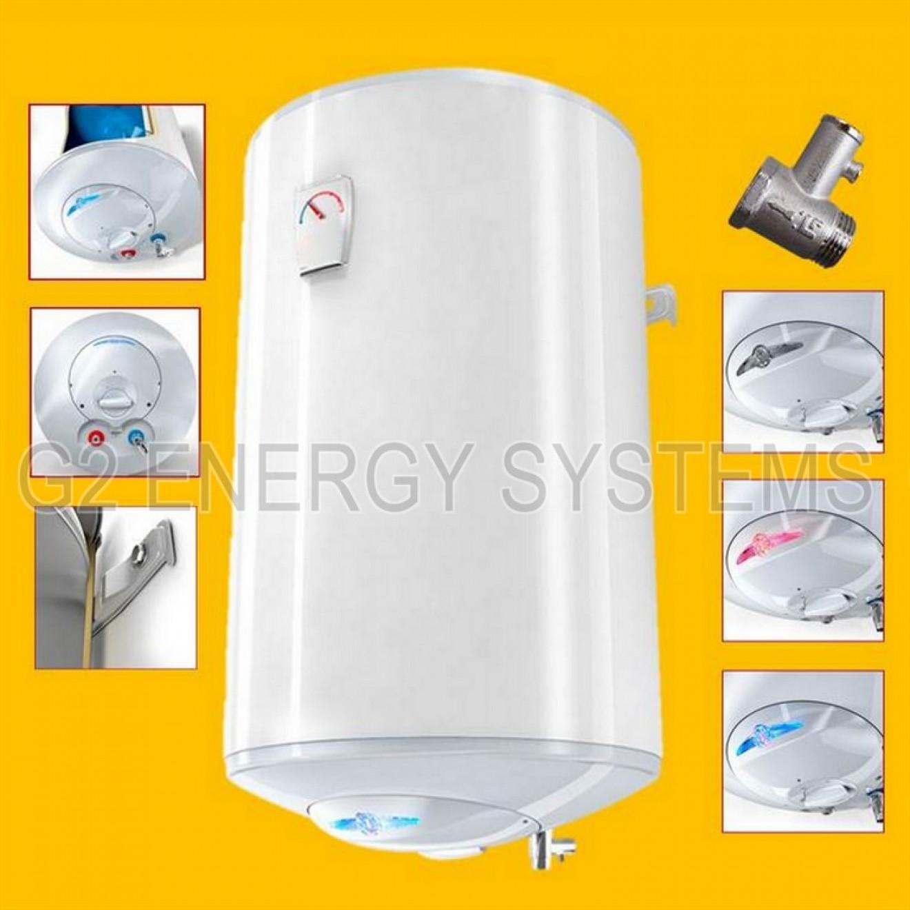 Elektro Warmwasserspeicher Boiler 30 50 80 100 120 150 L Liter 2 ...