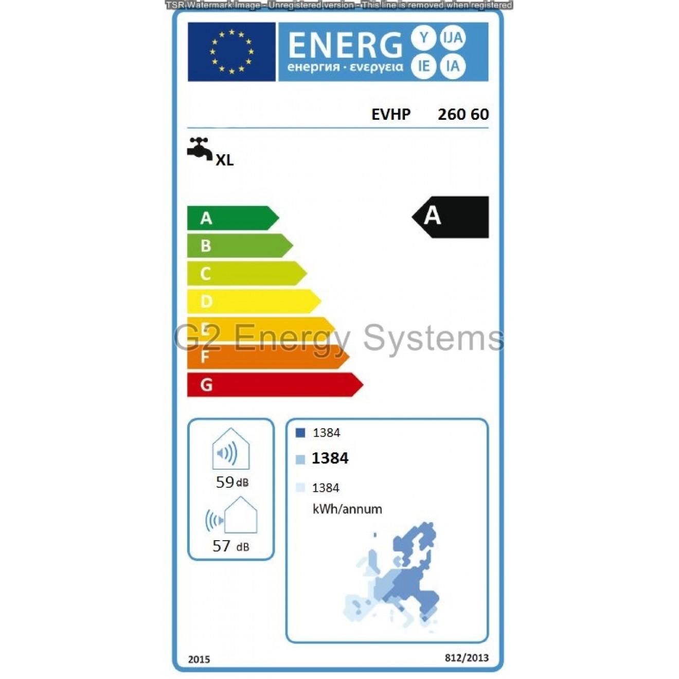 Luft Wasser Wärmepumpe ES/HP 260 L Liter mit Wärmetauscher Wasser ...